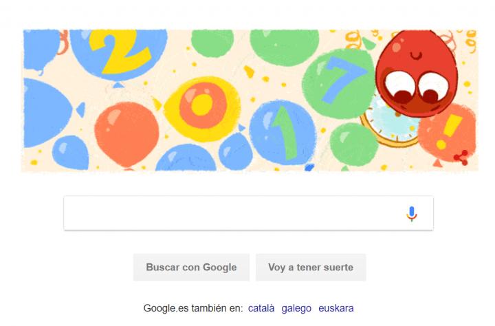 Imagen - Google nos desea un feliz Año en su primer Doodle de 2017