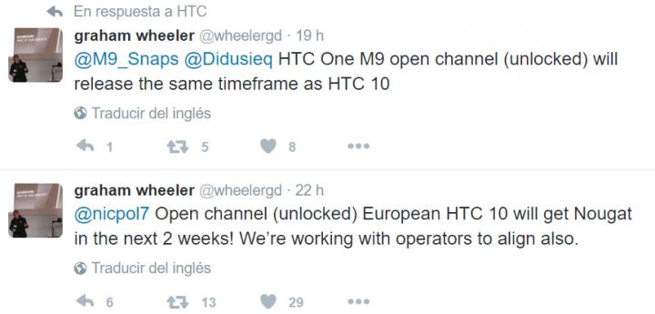 Imagen - HTC 10 y HTC One M9 recibirán Android Nougat en las próximas semanas