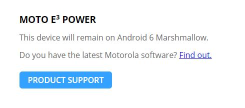 Imagen - Moto E3 podría no actualizar a Android Nougat