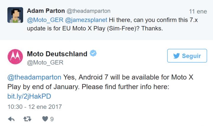 Imagen - Moto X Play tendrá Android 7 Nougat a finales del mes de enero