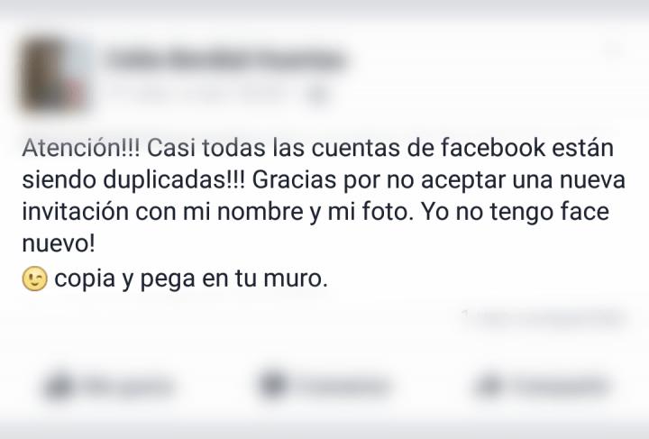 Imagen - Un nuevo bulo que circula por Facebook alerta de perfiles duplicados