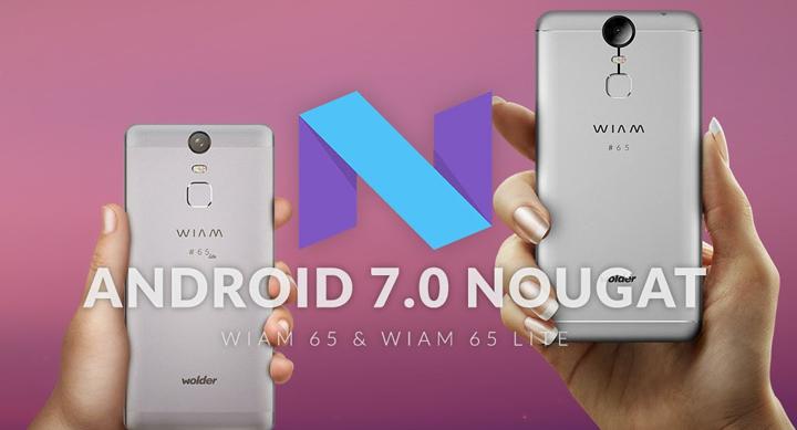 Wolder Wiam 65 y Wiam 65 Lite se actualizan a Android 7 Nougat