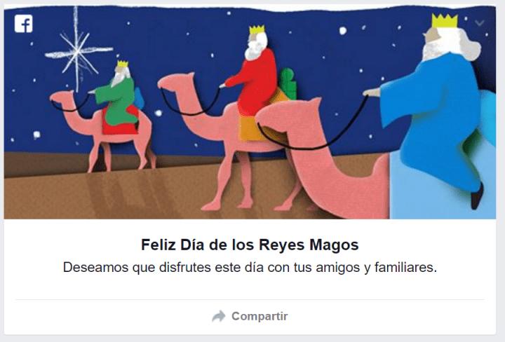 Imagen - Desea un feliz día de los Reyes Magos a través de Facebook