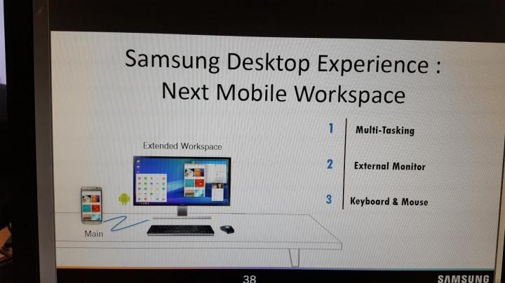 Imagen - Samsung Galaxy S8 haría de PC al conectarse a un monitor, con teclado y ratón