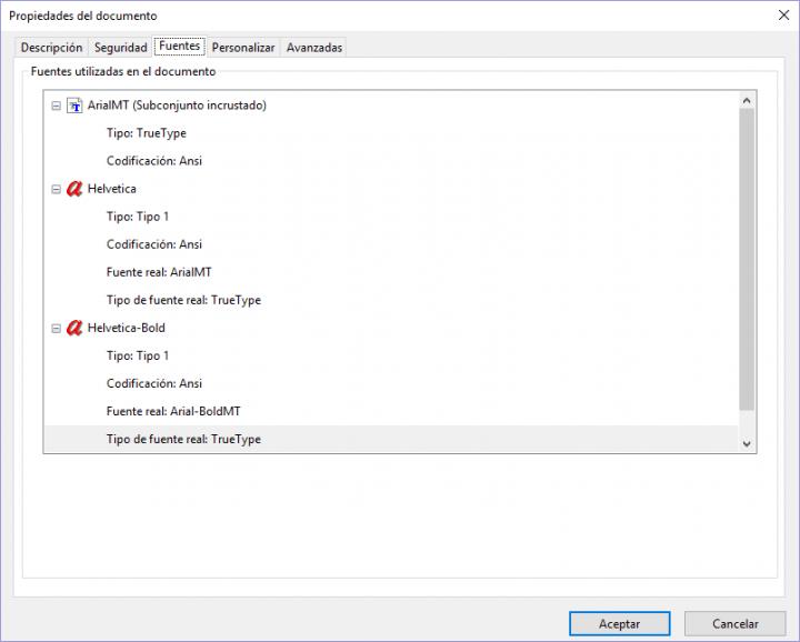 Imagen - Cómo saber las tipografías de un documento PDF