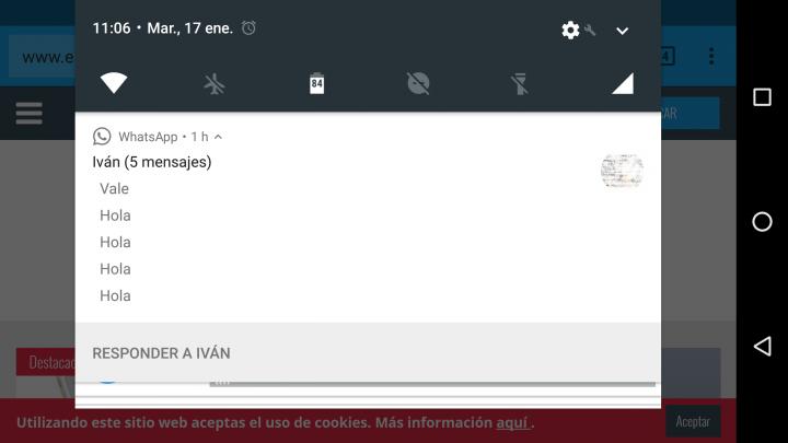 Imagen - WhatsApp ya permite ver todos los mensajes recibidos desde las notificaciones en Android 7