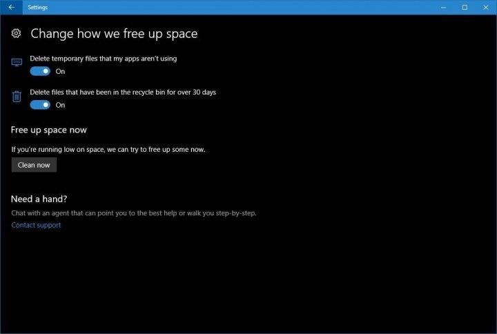 Imagen - Windows 10 liberará espacio de forma automática