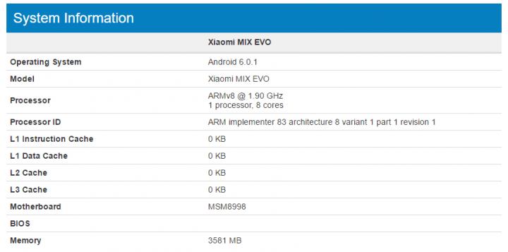 Imagen - Se filtran las características del Xiaomi Mix Evo