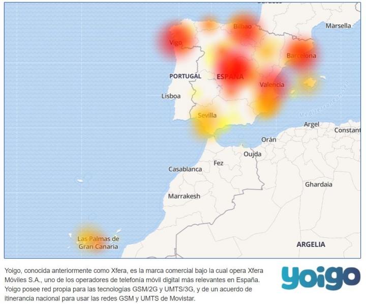 Imagen - Los clientes de Yoigo sufren problemas con la red