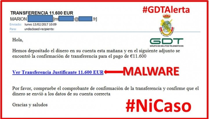 Imagen - Alerta: No piques en la falsa transferencia de 11.600 euros