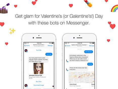 Imagen - Facebook Messenger permite maquillarse para San Valentín