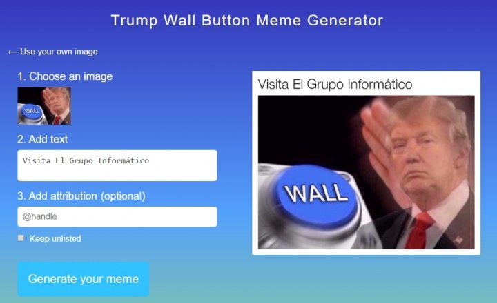 Imagen - Crea tus memes propios de Donald Trump
