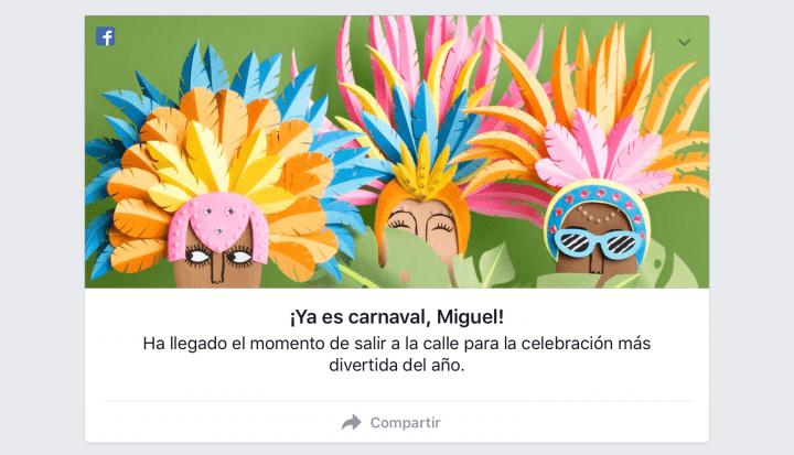 Imagen - Facebook nos permite felicitar el carnaval