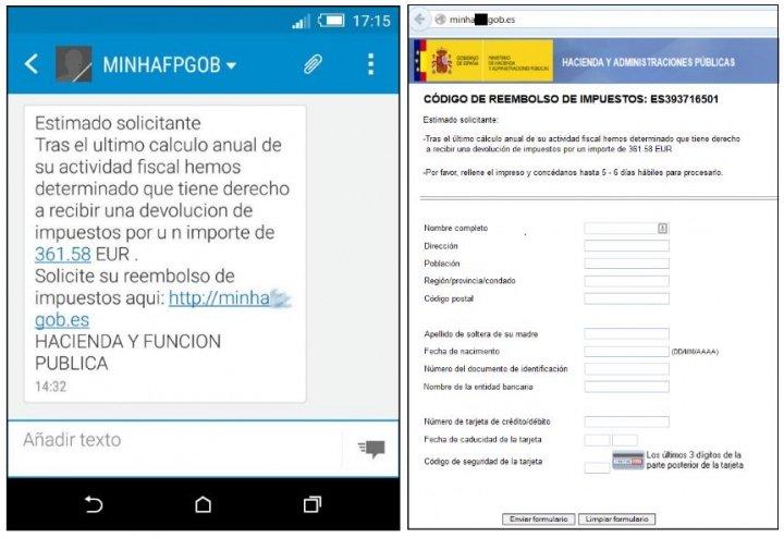 Imagen - Cuidado con los falsos SMS de Hacienda