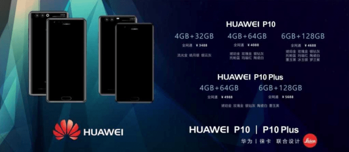 Imagen - Huawei P10 y P10 Plus, filtrados en una diapositiva