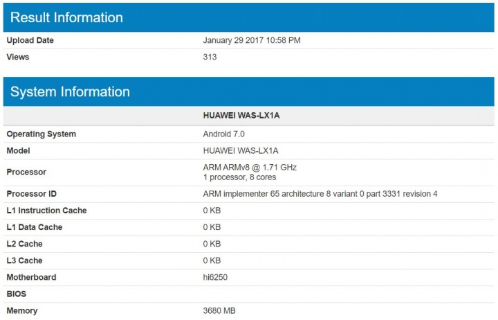 Imagen - Filtrados los detalles técnicos del posible Huawei P10 Lite