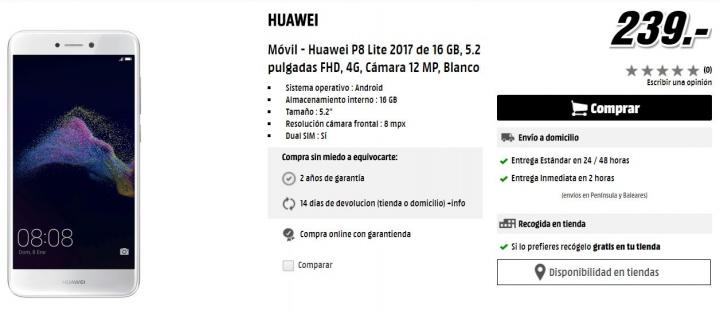Imagen - Dónde comprar el Huawei P8 Lite (2017)