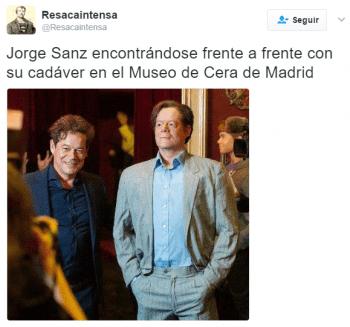 Imagen - La figura de cera de Jorge Sanz se vuelve viral en Twitter