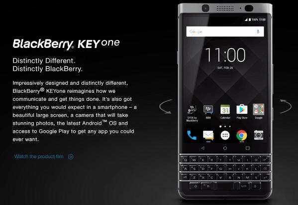 Imagen - BlackBerry KEYone es oficial con Android 7 Nougat y teclado físico