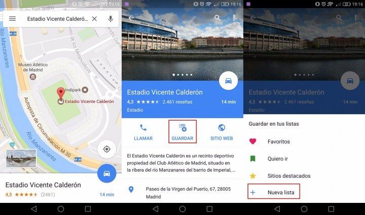 Imagen - Crea listas de tus sitios favoritos en Google Maps