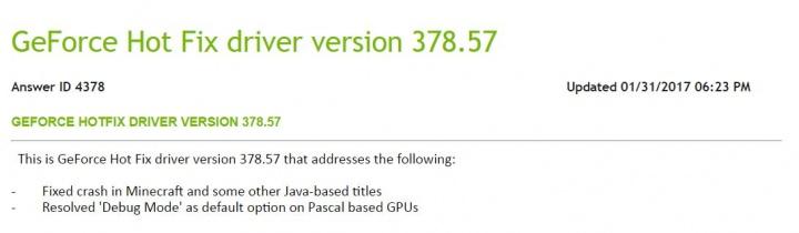 Imagen - Ya disponible para descargar los drivers Nvidia GeForce 378.57 Hotfix