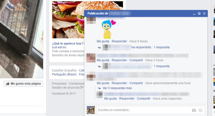 Imagen - Facebook prueba las respuestas rápidas a publicaciones al estilo conversación