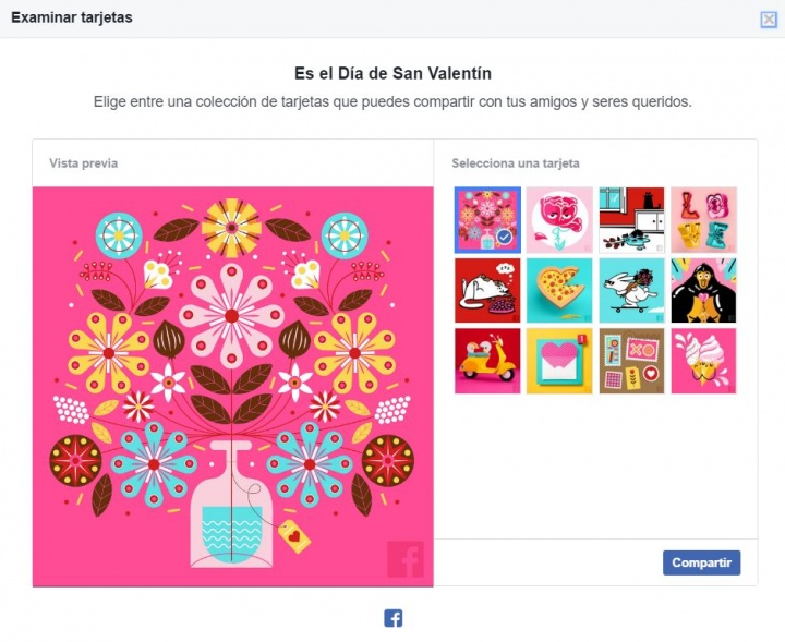 Imagen - Felicita el Día de San Valentín en Facebook a través de una tarjeta personalizada