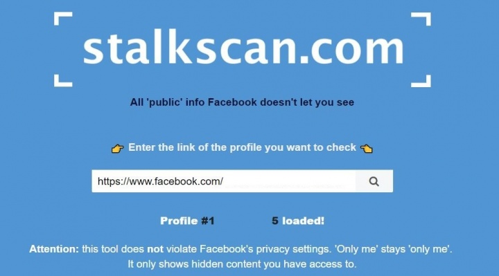 Imagen - Stalkscan, la web para espiar perfiles en Facebook