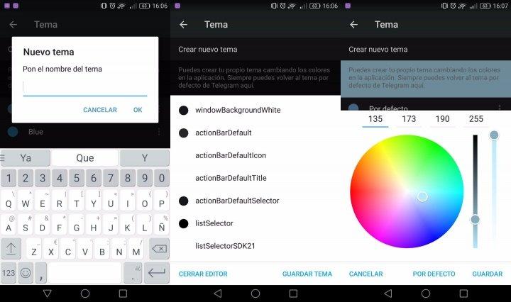 """Imagen - Telegram se actualiza y da soporte a temas personalizados y un """"dark mode"""""""