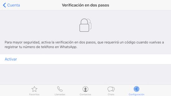 Imagen - WhatsApp ya ofrece verificación en dos pasos