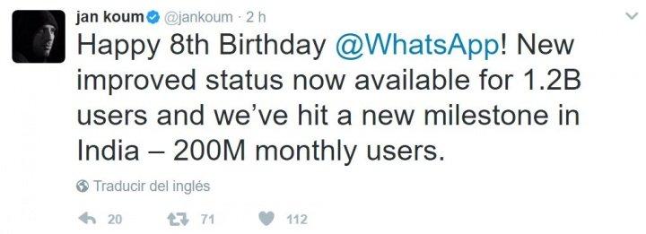 Imagen - WhatsApp cumple hoy 8 años