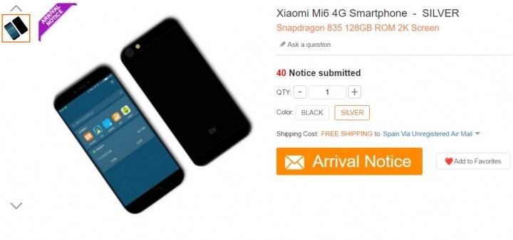 Imagen - Filtradas las características técnicas del Xiaomi Mi6