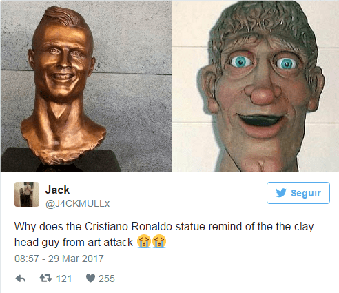 Imagen - El busto de Cristiano Ronaldo se vuelve viral