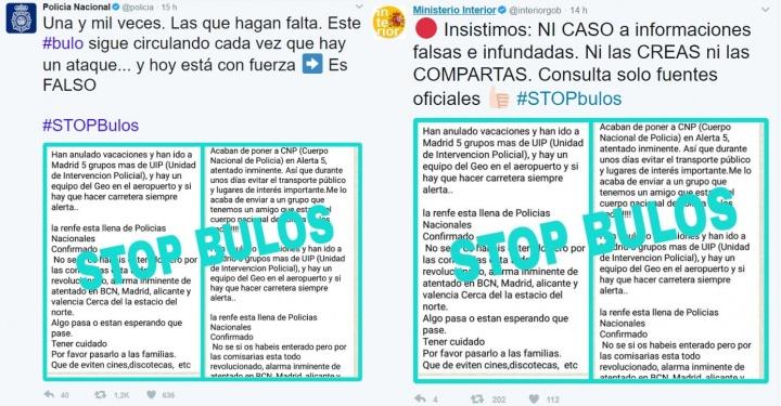 Imagen - Un nuevo bulo asegura que España se encuentra en Alerta 5 por atentado terrorista