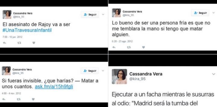 Imagen - Cassandra Vera es condenada a la cárcel por 13 tweets