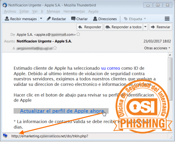Imagen - Un falso correo en nombre de Apple pretende robar tus datos