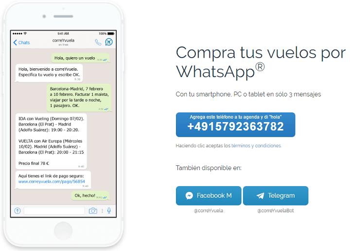 Imagen - Comprar vuelos por WhatsApp o Facebook Messenger ya es posible gracias a un bot