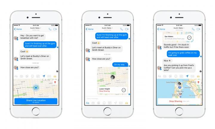 Imagen - Facebook Messenger ya permite compartir tu ubicación en tiempo real