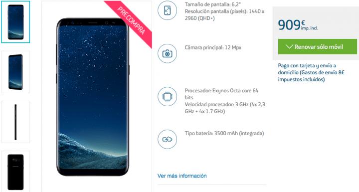 Imagen - Samsung Galaxy S8: precios con Movistar