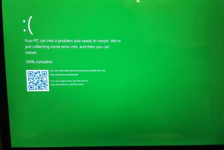 Imagen - La pantalla azul de la muerte de Windows 10 cambiaría a color verde
