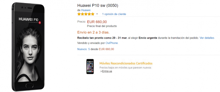 comprar huawei p10 en amazon