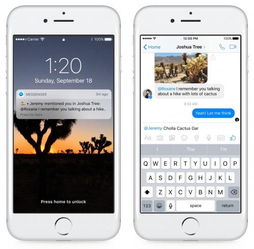 Imagen - Facebook Messenger añade reacciones y menciones