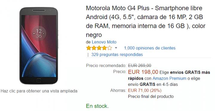 Imagen - Oferta: Moto G4 Plus por tan solo 198 euros en Amazon