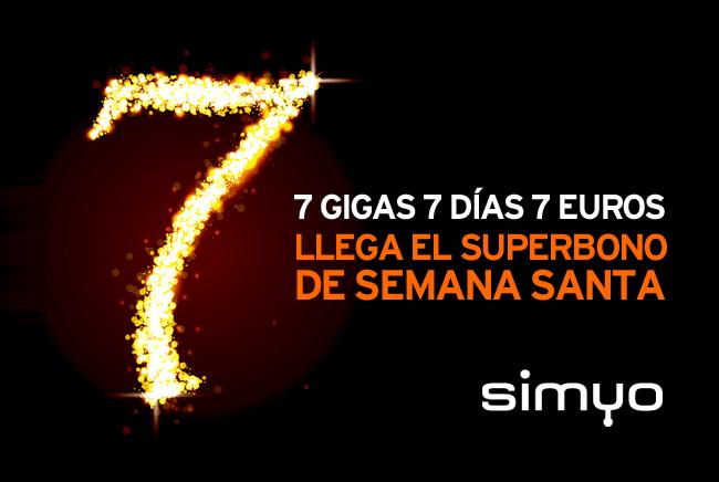 Imagen - Simyo lanza un bono de 7GB por 7 euros para Semana Santa