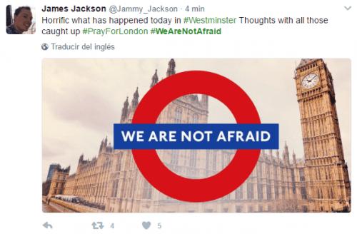 Imagen - Las redes sociales se llenan de #WeAreNotAfraid tras el atentado de Londres