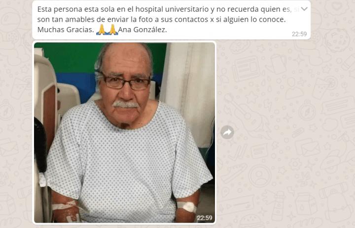 Imagen - El abuelo sin identificar, el nuevo bulo viral de WhatsApp