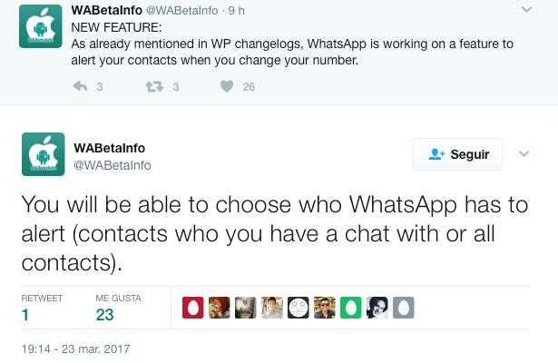 Imagen - WhatsApp avisará a tus contactos cuando cambies de número