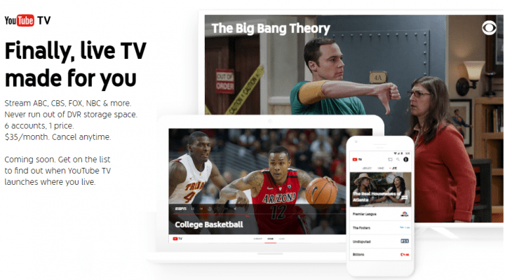 YouTube TV, el nuevo servicio de televisión de Youtube