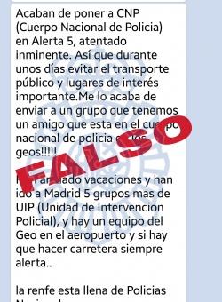 Imagen - Un bulo en WhatsApp alerta de atentado en Semana Santa