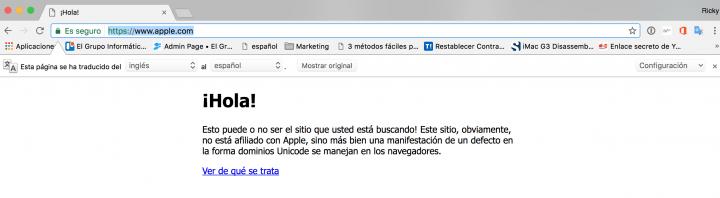 Imagen - Hacen pasar dominios falsos de páginas web por oficiales en Chrome y Firefox